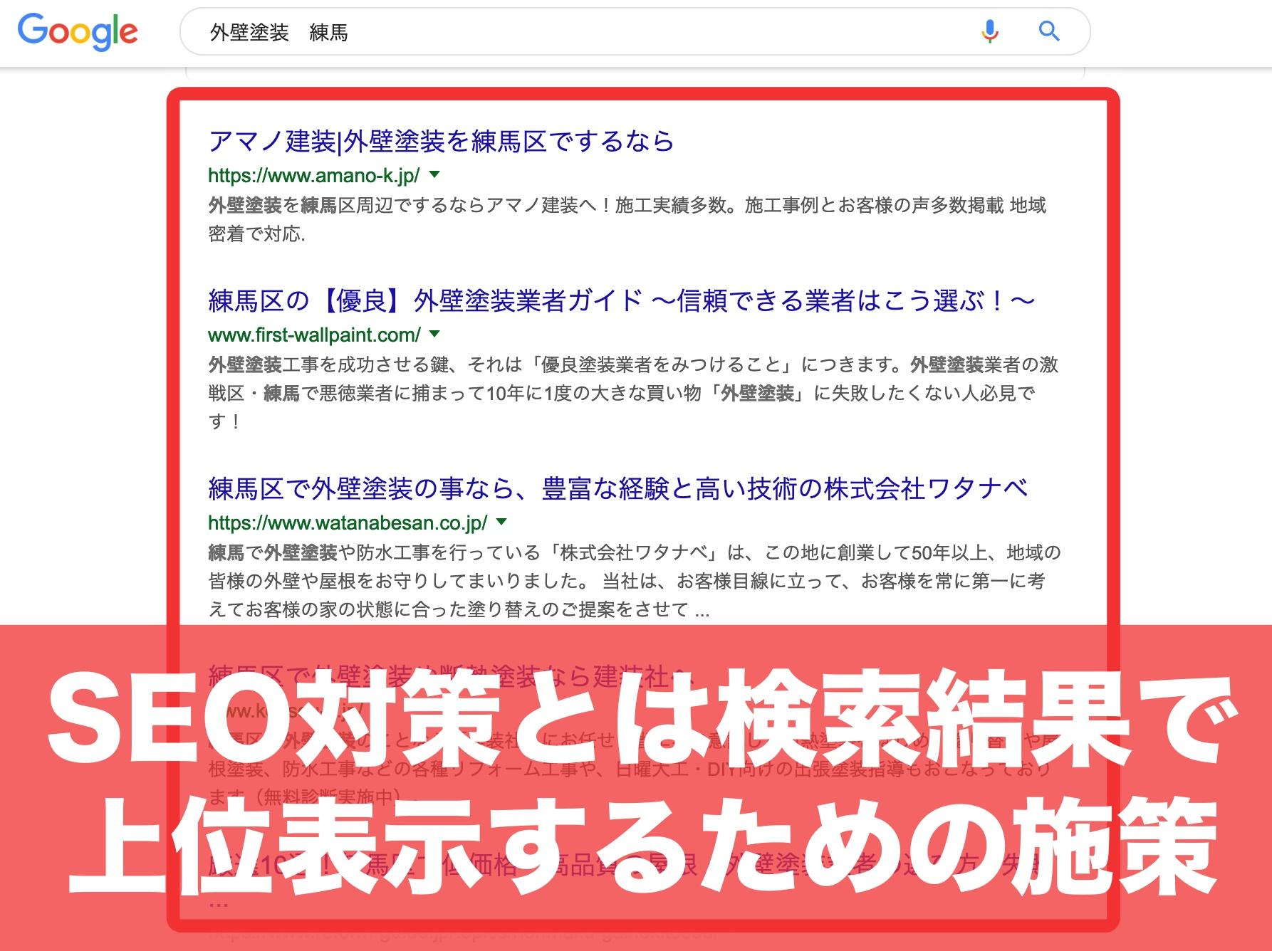 SEO対策とは検索結果で上位表示するための施策